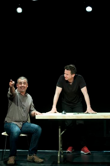 """Marcus Youssef and James Long of """"Winners and Losers."""" Photo courtesy of Woolly Mammoth Theatre Company"""