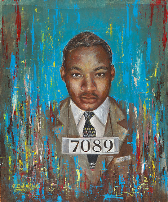 Award winning artist Luis Peralta Del Valle opens Troublemakers at Gallery OonH Friday, November 6. Pictured above: Martin Luther King, Jr. Image courtesy of the artist.