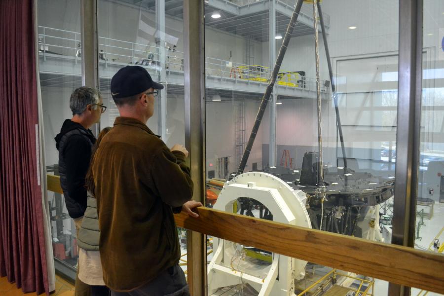 Hill resident and NASA engineer Joe Howard surveys the work on JWST.