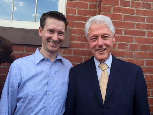 Councilmember CHarles Allen escorted former President Bill Clinton around Eastern Market last weekend.