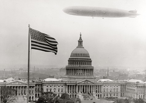 The Graf Zeppelin over the Capitol (Shorpy's)