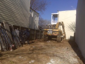 820 C Street SE --DCRA contractors finishing razing historic but dilapidated old Chinese-owned business