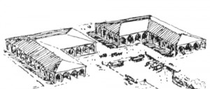 1928 drawing by Elbert Peets of what the market would have looked like, had L'Enfant's plan been followed rigorously.