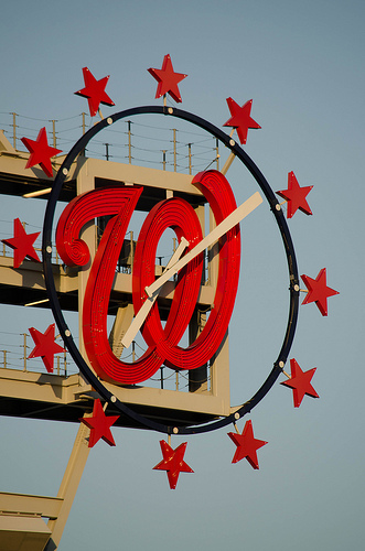 Washington Nationals clock